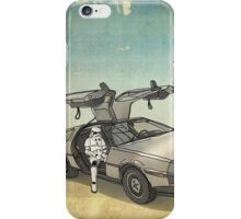 lost searching for the DeathStarr_ 2 stormtroooper in A DELOREAN iPhone Case/Skin