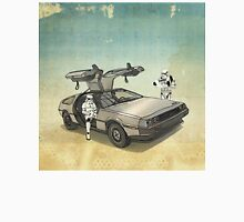 lost searching for the DeathStarr_ 2 stormtroooper in A DELOREAN Unisex T-Shirt