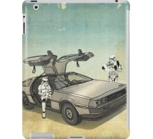 lost searching for the DeathStarr_ 2 stormtroooper in A DELOREAN iPad Case/Skin
