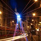 Light rays on a St. Paul's night by santinopani
