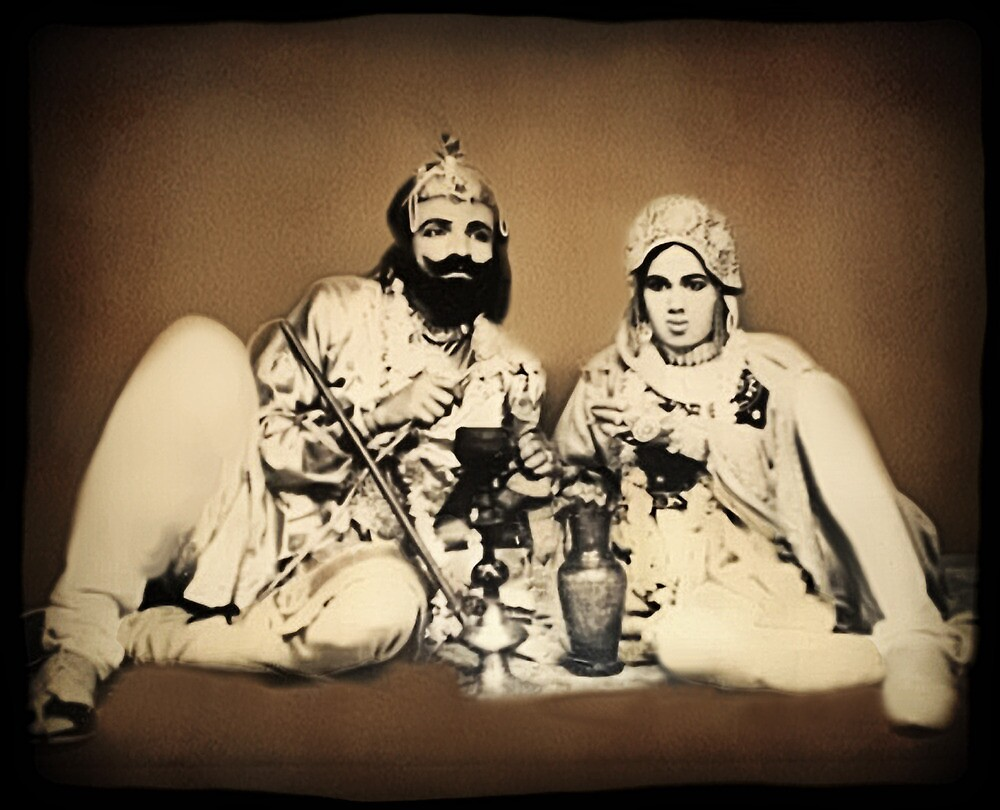 ๑۩۞۩๑1900's Rare Old  Rare Indian Royal Mughal King With His Queen (My Restoration completed) ๑۩۞۩๑ by ✿✿ Bonita ✿✿ ђєℓℓσ