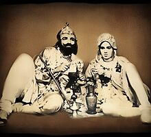 ?????1900's Rare Old  Rare Indian Royal Mughal King With His Queen (My Restoration completed) ????? by ✿✿ Bonita ✿✿ ђєℓℓσ