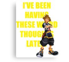"Sora ""I've Been Having These Wierd Thoughts Latley"" Canvas Print"