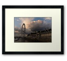 Sky Drama Around the London Eye Framed Print