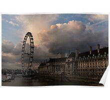 Sky Drama Around the London Eye Poster