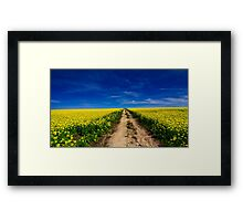 """""""Amid The Fields Of Gold"""" Framed Print"""