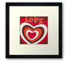Retro Love Hearts Pop Art Framed Print