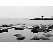 Black and White Fishermen Friends Photographic Print