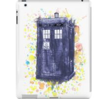 Blue Box in Wibbly Wobbly Watercolour iPad Case/Skin