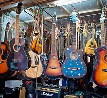 Seoul Guitars, Dongdaemun Market by Belle  Nachmann