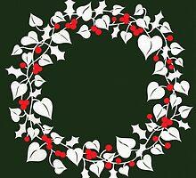 Holly and Ivy Wreath by MrsTreefrog