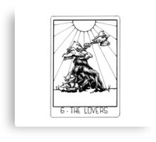 Tarot Series: The Lovers Canvas Print