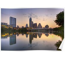 Austin Images - the Austin Skyline from Ladybird Lake 4 Poster