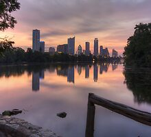 Austin Images - the Austin Skyline from Lou Neff Point 3 by RobGreebonPhoto