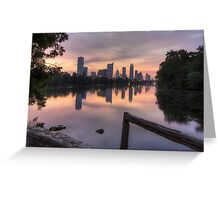 Austin Images - the Austin Skyline from Lou Neff Point 3 Greeting Card