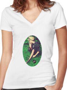 P.E.A.C.E Women's Fitted V-Neck T-Shirt