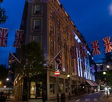 Union Jacks at Seven Dials, Covent Garden, London, UK by Georgia Mizuleva