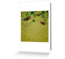 Plants and Insects Composition Greeting Card