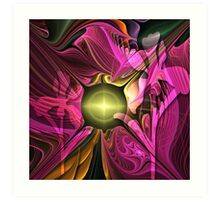 Artistic fractal abstract Summer fantasy wit Flowers Art Print