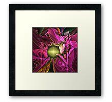 Artistic fractal abstract Summer fantasy wit Flowers Framed Print