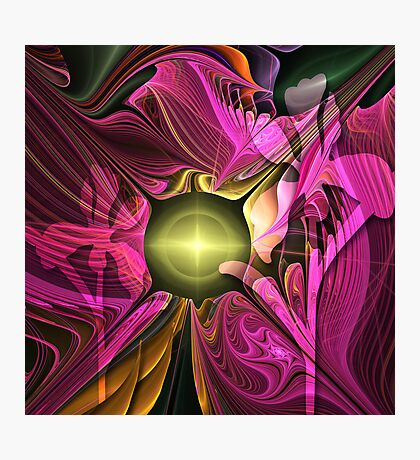 Artistic fractal abstract Summer fantasy wit Flowers Photographic Print