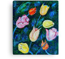 Tulips a bit in Van Gogh style Canvas Print