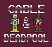 Pixelated Cable & Deadpool by inesbot