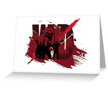 Zombie Killer Slasher Splatter Design Greeting Card
