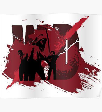 Zombie Killer Slasher Splatter Design Poster