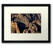 The Holy Rocks of Meteora Framed Print
