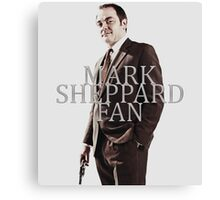 Mark Sheppard Fan Canvas Print