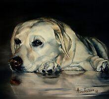 Yellow Labrador by Anne Zoutsos