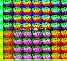 Rainbow Pixel Eye Eyes Design by Kater
