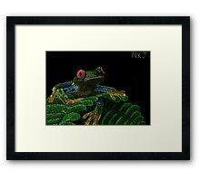Tree Frog (Colorized) Framed Print