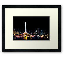 Chicago Buckingham Fountain Framed Print