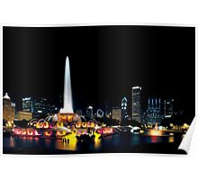 Chicago Buckingham Fountain Poster