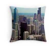 THE ASTONISHING CHICAGO BUILDING ARCHITECTURE Throw Pillow