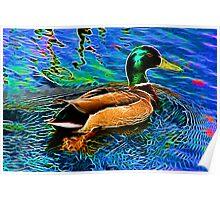Glow - Duck (Trippy) Poster