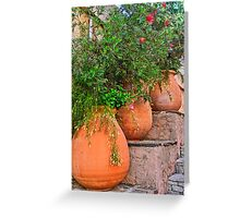 Terracotta pots colors of the provence Greeting Card