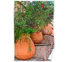 Terracotta pots colors of the provence Poster