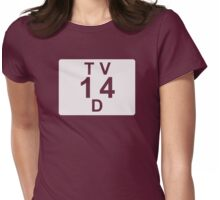 TV 14 D (United States) white Womens Fitted T-Shirt