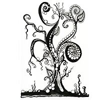 The Magic Tree, An Ink Drawing Photographic Print
