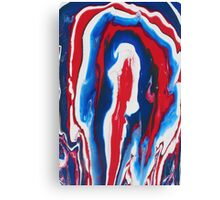 Paint - Blue, White, Red Canvas Print