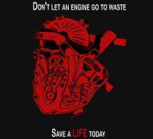 Heart Engine Red Unisex T-Shirt