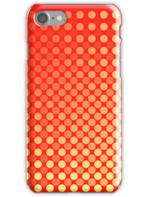 Red Yellow Red Mash-Up iPhone and iPad Case by Ra12