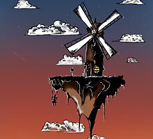 Floating Windmill by Amazor
