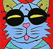 Cat with Glasses by Casey Virata