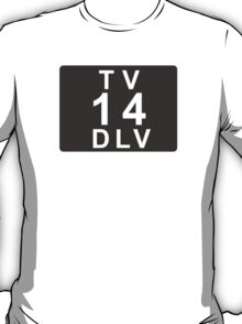 TV 14 DLV (United States) black T-Shirt
