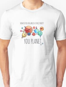How to organize a space party? v2 Unisex T-Shirt