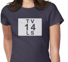 TV 14 LS (United States) white Womens Fitted T-Shirt